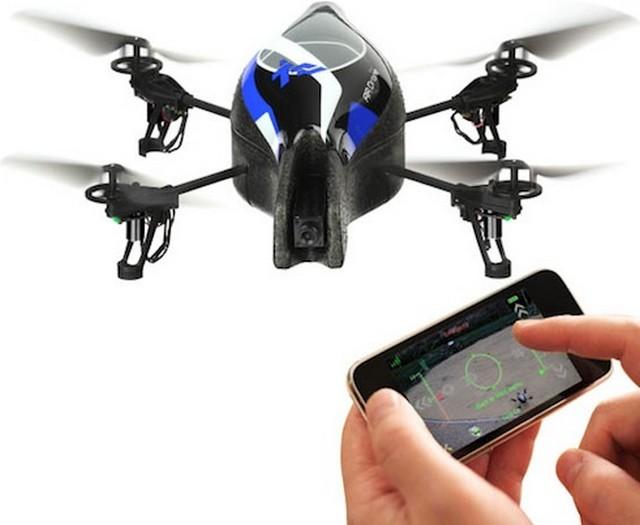 parrot dron v letu