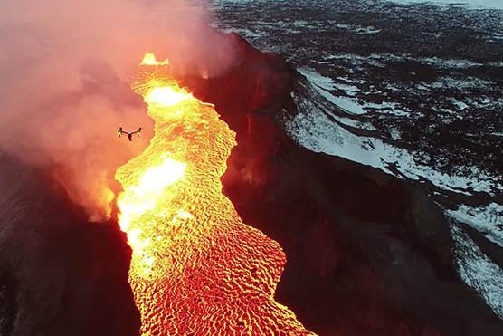 islandský vulkán bardarbunga