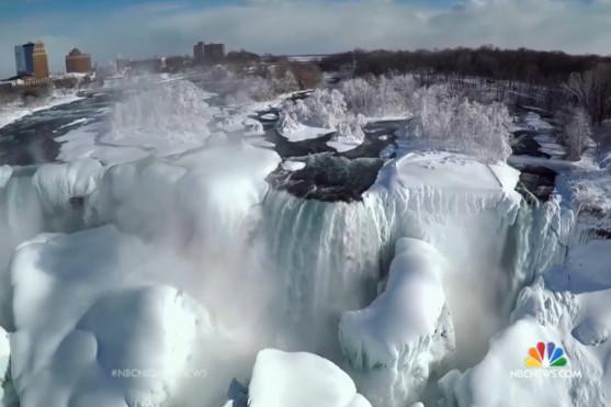 zamrzlé niagárské vodopády