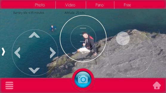 aplikace pro pořizování selfies zano