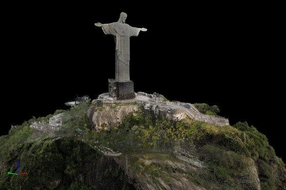 mapování sochy krista
