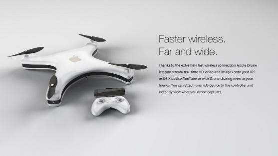 moderní apple dron