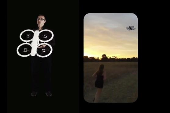 Běhání s dronem, který působí jako motivace. | Zdroj: video