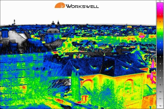 Termosnímek (termogram) pořízen systémem firmy Workswell | Zdroj: Workswell
