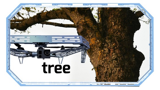 Kontakt dronu se stromem | Zdroj: kickstarter.com