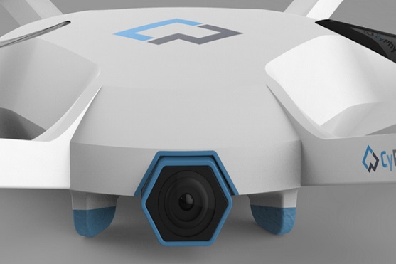 Zabudovaná kamera hexakoptéry CyPhy LVL 1 | Zdroj: kickstarter.com - CyPhy LVL 1