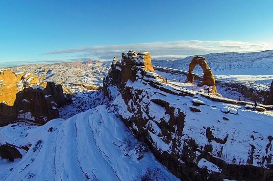 Letecký záběr na Delicate Arch v Utahu | Zdroj: dji.com