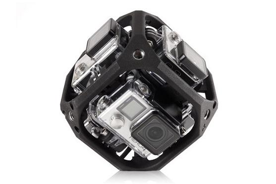 Držák pro 6 kamer Hero 4 od GoPro | Zdroj: vrscout.com