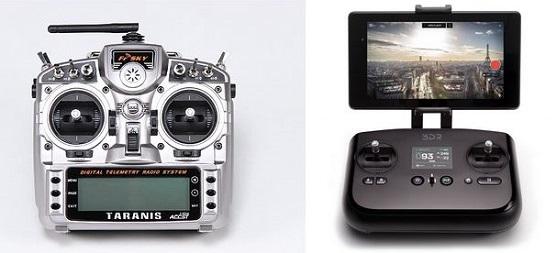 Porovnání dvou dálkových ovládání | Zdroj: 3drobotics.com