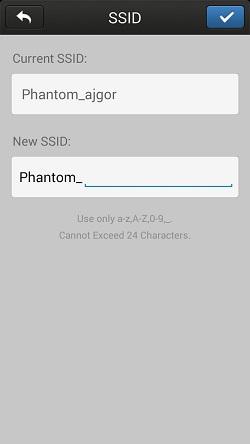 Přejmenování SSID | Zdroj: droncentrum
