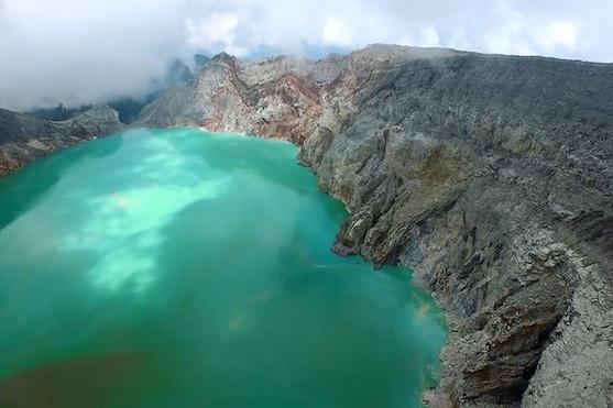 Největší a nejkyselejší jezero světa | Zdroj: dji.com