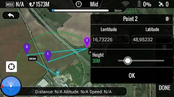 Souřadnice bodů trasy | Zdroj: droncentrum