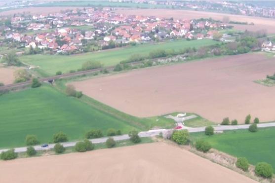 Záběr z dronu při testování dosahu signálů | Zdroj: droncentrum