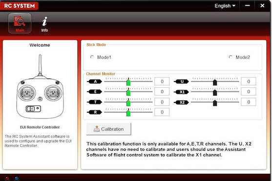Program pro nastavení výkonu vysílače a dalších funkcí | Zdroj: droncentrum