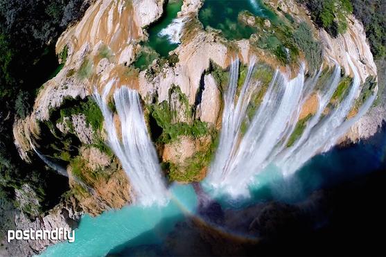 Záběr na vodopády v Mexiku | Zdroj: postandfly.com.mx