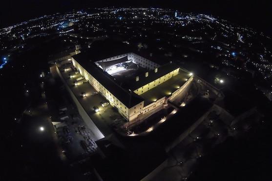 Noční záběr na hrad Špilberk | Zdroj: droncentrum