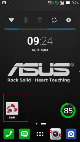 Ikona aplikace Litchi v OS Android | Zdroj: droncentrum