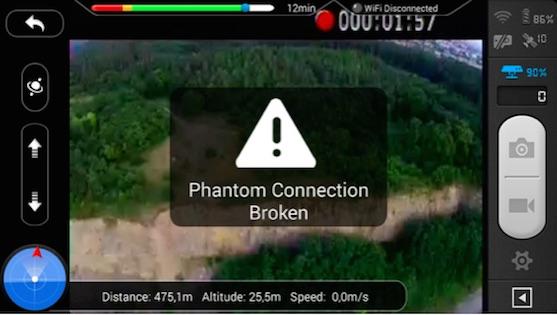 Dosah řídícího signálu ve FCC módu do dálky | Zdroj: droncentrum