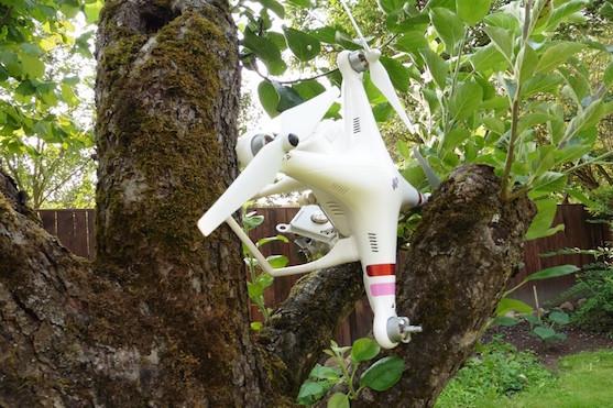 Havarovaný dron - Ilustrační foto | Zdroj: droncentrum