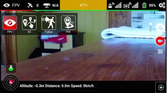 Úvodní obrazovka a letové módy v aplikaci Litchi | Zdroj: droncentrum
