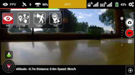 Základní obrazovka aplikace Litchi | Zdroj: droncentrum