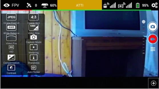 Nastavení kamery | Zdroj: droncentrum