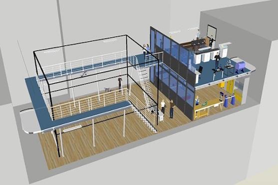 Návrh laboratoře pro vývoj dronů | Zdroj: Rob Siddall/Imperial College London