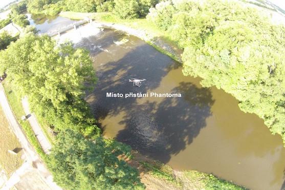 Místo dopadu mé kvadrokoptéry DIJ F320 Phantom 2 Vision + | Zdroj: droncentrum