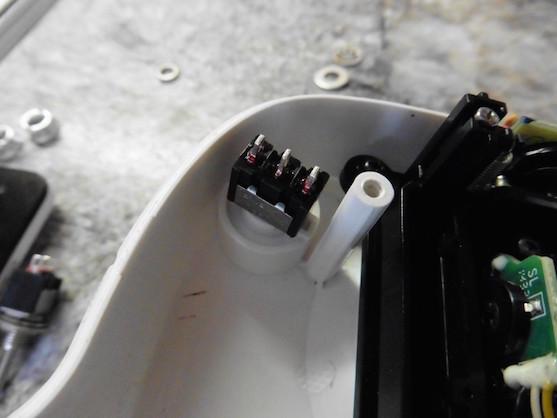 Místo pro připájení kabelů | Zdroj: droncentrum