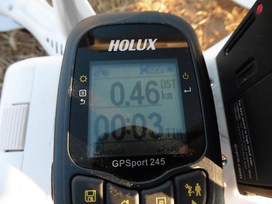 Uražená vzdálenost 460 metrů v GPS módu | Zdroj: droncentrum