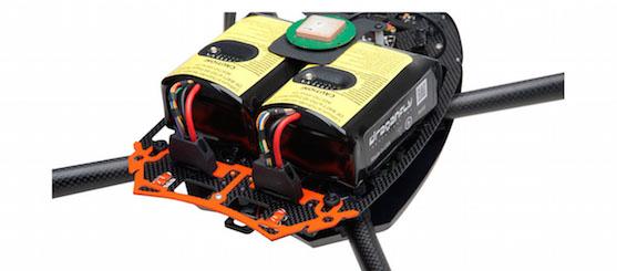 Speciální systém 2 baterií, který poskytuje ochranu při selhání jedné z baterií | Zdroj: draganfly.com
