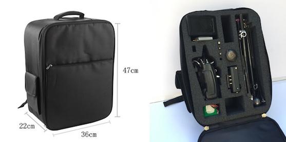 Batoh pro přepravu kvadrokoptéry Easy Drone XL Pro | Zdroj: kickstarter.com