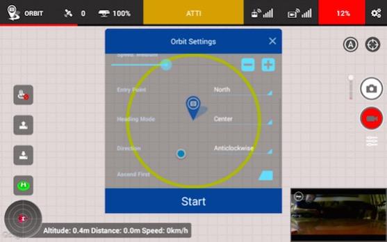 Další nastavení funkce POI v aplikaci Litchi | Zdroj: droncentrum