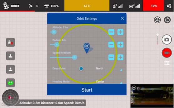 Nastavení funkce POI v aplikaci Litchi | Zdroj: droncentrum
