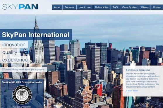 Úvodní stránka společnosti SkyPan International | Zdroj: skypanintl.com