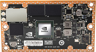 Modul Jetson TX1 od NVIDIA   Zdroj: nvidia.com