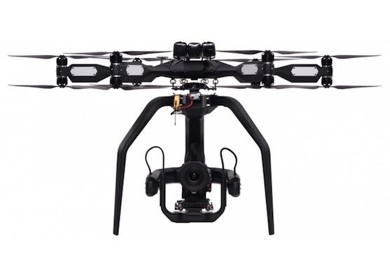 Dron Aerigon, který byl využit při natáčení Bondovky Spectre | Zdroj: intuitiveaerial.com