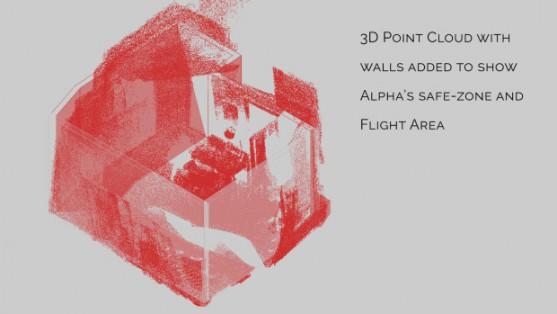 3D mapa vytvořená systémem LiDAR | Zdroj: indiegogo.com