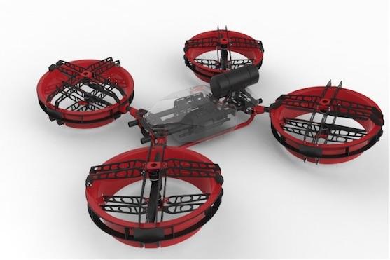 "University of Cincinnati a firma Dronewerx budou pracovat na pokročilém ""heavy lift"" dronu | Zdroj: suasnews.com"