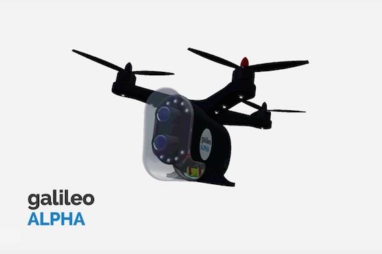 Bezpečnostní dron Galileo Alpha | Zdroj: indiegogo.com