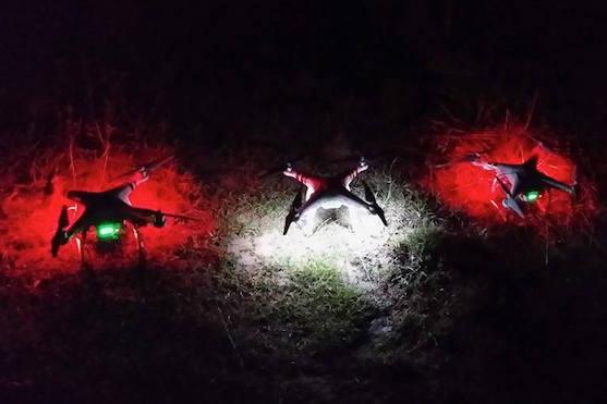Pyro akce, která proběhla nedaleko Brna | Zdroj: droncentrum