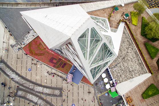 Prodejna DJI z ptačí perspektivy   Zdroj: dji.com