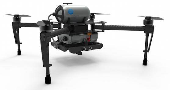 Vizualizace dronu s vodíkovým palivovým článkem | Zdroj: intelligent-energy.com