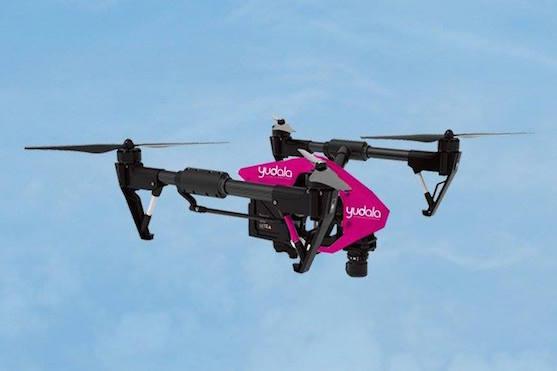 Pro doručení pomocí dronu byla využita kvadrokoptéra Inspire 1 | Zdroj: facebook.com - Yudala