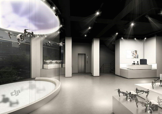 Takto bude vypadat interiér prodejny DJI v Korei | Zdroj: dji.com