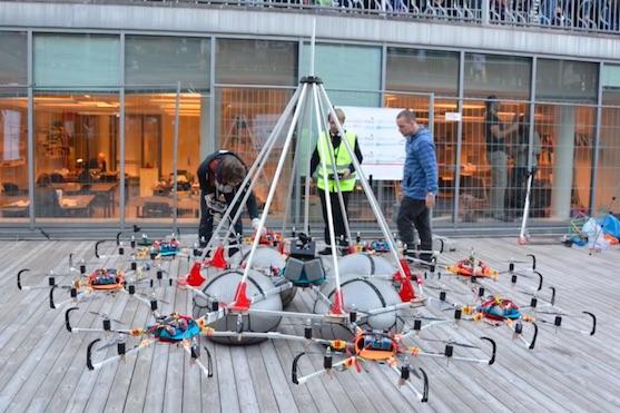 Multikoptéra Megacopter při pokusu o světový rekord | Zdroj: video