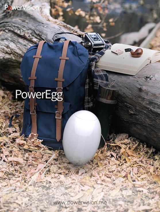 Dron PowerEgg v porovnání s ruksakem | Zdroj: powervision.me